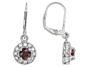 Red Anthill Garnet Sterling Silver Earrings 1.23ctw