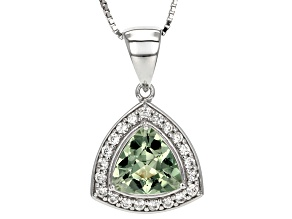 Green Prasiolite Sterling Silver Pendant With Chain 2.97ctw