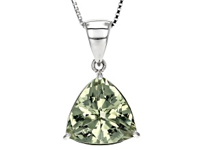 Green Prasiolite Sterling Silver Pendant With Chain 6.56ct