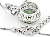 Green Prasiolite Sterling Silver Pendant With Chain 3.54ctw