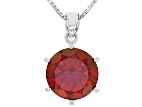 Red Peony(TM) Mystic Topaz(R) Silver Pendant with Chain 4.85ct