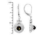Black Ethiopian Opal Sterling Silver Solitiare Earrings .50ctw