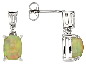 Ethiopian Opal Sterling Silver Earrings 1.82ctw