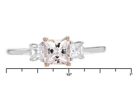 Pink Morganite Sterling Silver Ring .89ctw