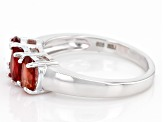 Red Labradorite Sterling Silver Ring 1.10ctw
