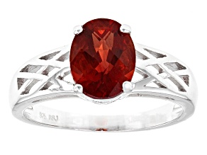 Red Labradorite Sterling Silver Ring 1.49ct