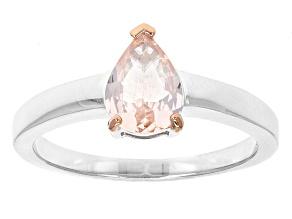 Pink Morganite Sterling Silver Ring .57ct