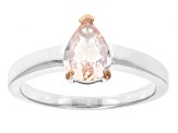 Pink Morganite Sterling Silver Ring .57ct