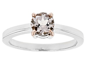 Pink Morganite Sterling Silver Ring .56ct