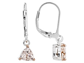 Pink Morganite Sterling Silver Earrings .86ctw