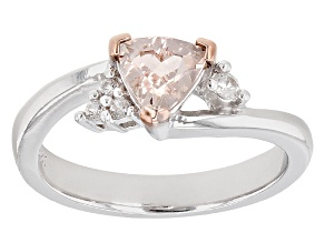 Pink Morganite Sterling Silver Ring 0.59ctw