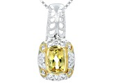 Yellow Heliodor Two-Tone Silver Pendant With Chain .69ct
