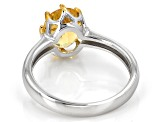 Yellow Heliodor Sterling Silver Ring 1.39ct