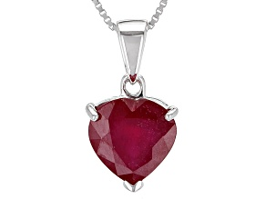 Mahaleo Ruby Sterling Silver Pendant With Chain 3.96ct