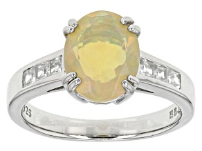 Ethiopian Honey Opal Sterling Silver Ring 1.60ctw