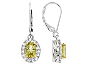 Yellow Canary Apatite Sterling Silver Earrings 1.93ctw