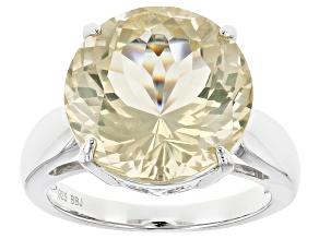 Yellow Labradorite Sterling Silver Ring 7.26ct