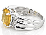 Yellow Fire Opal Sterling Silver Ring 2.64ctw