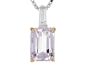 Pink Kunzite Sterling Silver Pendant With Chain 1.85ctw