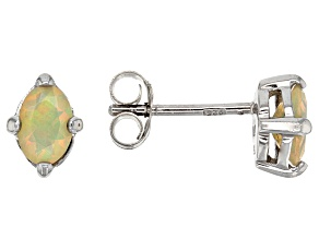 Multicolor Ethiopian Jelly Opal Sterling Silver Earrings .42ctw