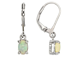 Multicolor Ethiopian Opal Sterling Silver Earrings .54ctw