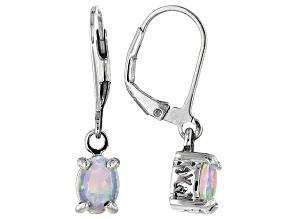 Ethiopian Honey Opal Sterling Silver Dangle Earrings .70ctw