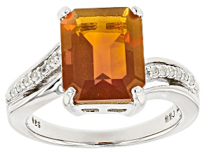 Orange Fire Opal Sterling Silver Ring 2.60ctw
