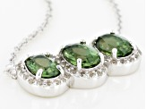 Green Apatite Sterling Silver Pendant With Chain 2.21ctw