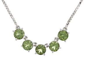 Green Apaptite Sterling Silver Bolo Necklace 2.25ctw