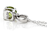 Green Arizona peridot sterling silver pendant with chain .88ct