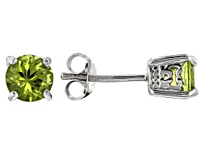 Green Arizona peridot sterling silver earrings 1.39ctw