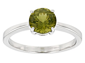 Green Arizona peridot sterling silver ring 1.09ct