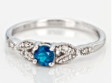Blue Neon Apatite Sterling Silver Ring .28ctw