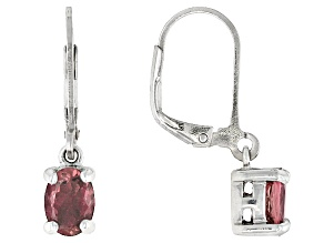 Pink Tourmaline Sterling Silver Earrings 1.24ctw