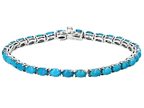 Blue Sleeping Beauty Turquoise Sterling Silver Bracelet