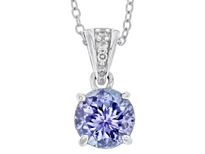 Blue Tanzanite Sterling Silver Pendant With Chain 1.28ctw