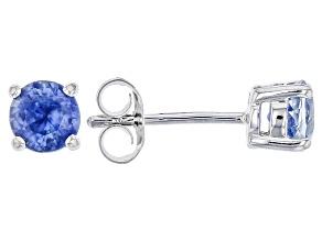 Blue Kyanite Sterling Silver Stud Earrings .80ctw