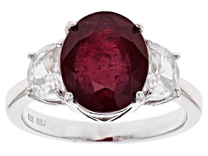 Mahaleo Ruby Sterling Silver Ring 5.27ctw