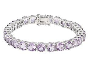 Purple Lavender Amethyst Sterling Silver Bracelet 21.35ctw