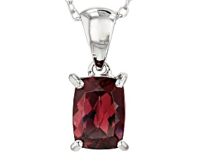 Brown Zircon Silver Pendant With Chain 2.00ct