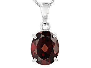 Brown Zircon Sterling Silver Pendant With Chain 5.00ct