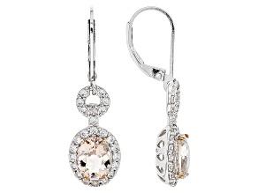 Pink Morganite Sterling Silver Earrings 2.80ctw