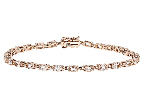 Peach Morganite 18k Rose Gold Over Sterling Silver Bracelet 5.05ctw