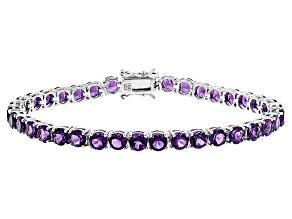 Purple Amethyst Sterling Silver Bracelet 14.56ctw