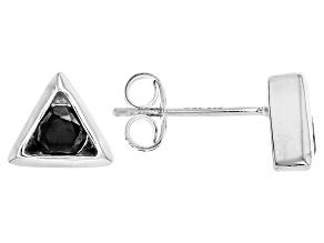 Black Spinel Sterling Silver Stud Earrings