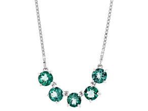 Teal Apaptite Sterling Silver Bolo Necklace 2.25ctw