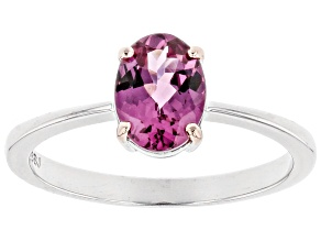 Pink Blush Color Garnet Sterling Silver Ring 1.19ct