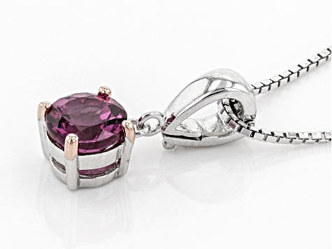 Pink Blush Color Garnet Sterling Silver Enhancer With Chain .91ct