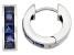 Lab Created Blue Sapphire Sterling Silver Hoop Earrings .90ctw