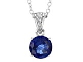 Blue Kyanite Sterling Silver Pendant With Chain 1.22ctw